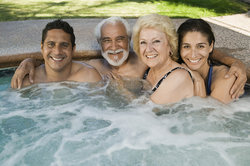 Bigstock Family In Hot Tub