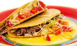 Bigstock Two Tacos On A Plate On A Whit