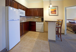 Hotel suite in San Antonio, TX with a full kitchen