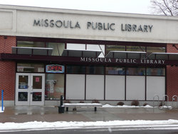Missoula Public Library Street Entrance