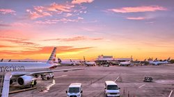Airport Airplanes Gates Flight Line