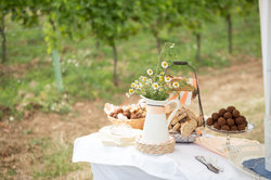 Enjoy the local food in the vinyards after saying I do