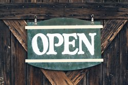 Open Antique Sign
