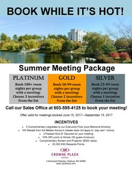 Summer Meetings Package