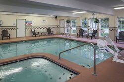 Indoor heated pool and spa at Holiday Inn Express Anchorage