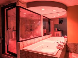 Steam Shower and Whirlpool Tub
