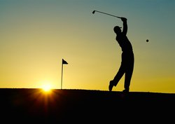 Golf Sunset Sport Golfer