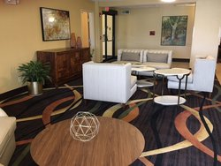 Hotel Lobby of Holiday Inn Express & Suites Chicago-Oswego