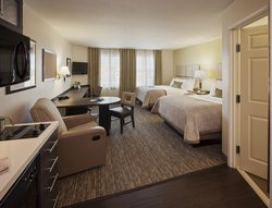 Two Bed Studio Suite. Photo is a representative-actual hotel photo