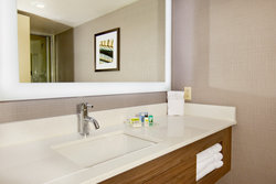 Newly Renovated Holiday Inn Presidential Little Rock Guestroom Bathroom