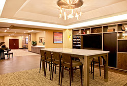 Newly Renovated Holiday Inn Presidential Little Rock Communial Table Workspace
