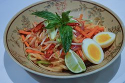 Pad Thai with Miso Brined Egg