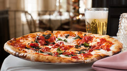 Restaurant Plate Pizza Beer