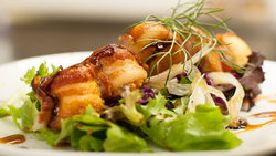 Restaurant Scallops Bacon Plate Kitchen
