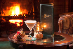 Lounge Fireplace Martini