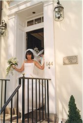 A Bride at Front Entrance of The Annapolis Inn