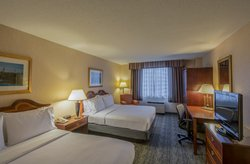 All rooms with two beds feature queen sized beds