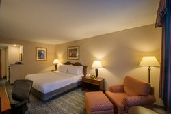 Spacious guestrooms include a refrigerator and Kuerig coffee maker