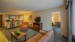 Our suites feature a living area and wet bar