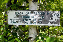 Explore Trail Hike Sign Black Cap