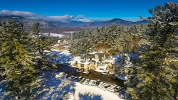 A Exterior Winter Snow Aerial Drone