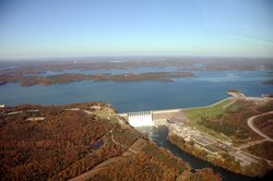 Aerial Photo Of Table Rock Dam, Lake, And White River, October