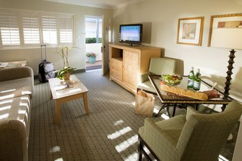 Relax In This Quaint Mini Suite Overlooking Our Pool Area Fully Separate Living Room And A Queen Bed Your Bedroom