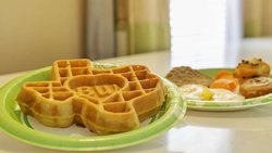 Complimentary Hot Breakfast with Waffles