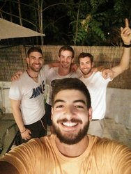 With the boys from Belgium !!