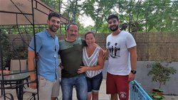 With the lovely family from Chicago !!
