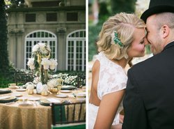 Emerald And Gold Oz Styled Shoot