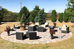 Hotel fire pit area