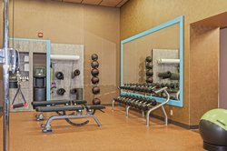 Expanded Fitness Room Facility at the Crowne Plaza Bloomington