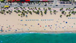 Aerial View Of The Beach At Fort Lauderdale Florida