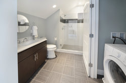 Penthouse Loft Bathroom with Washer