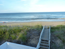 Walkway to beach at Duck, North Carolina