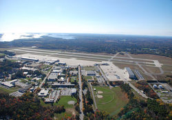 Brunswick Executive Airport Maine Aerial View