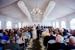 ©TheOberports / Patio Tent / Blennerhassett Weddings