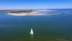 Aerial shot of Little Tybee Island