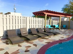 Pergola and more lounge chairs