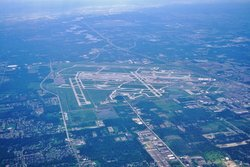 Aerial View Of Detroit Airport