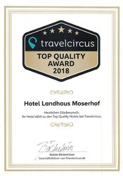 Travelcircus - TOP QUALITY AWARD 2018
