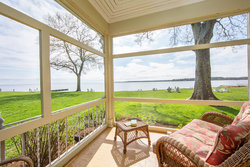 View from Sandaway's Water View Chandelier Suite Porch