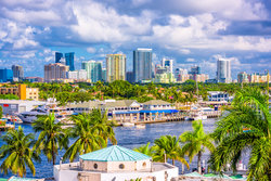 Fort Lauderdale marina and city views