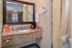 Guestroom bathroom counter