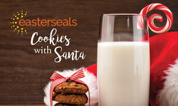 Easter Seals Cookies with Santa