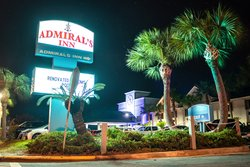 Front Sign of Admiral's Inn on Tybee Island