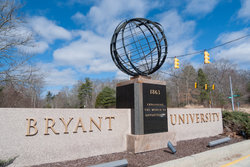 Sign For Bryant University - Photograph by Kenneth C. Zirkel