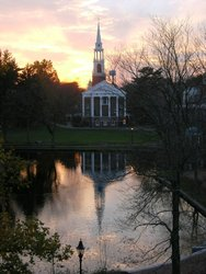Sunset Behind The Chapel At Wheaton College