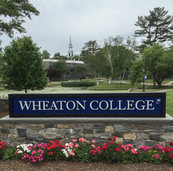 Wheaton College, MA Sign - Photography by Kenneth C. Zirkel
